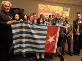 West Papua flag raising