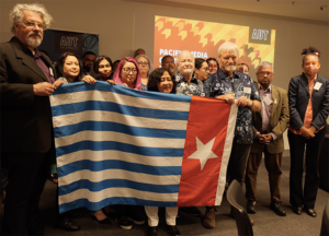 West Papua flag raising