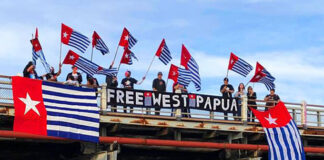 Free West Papua flags