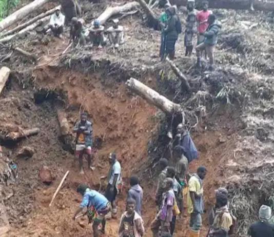 Saki landslide