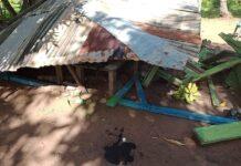 Vandalised KNPB secretariat