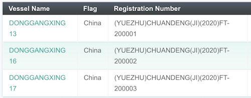 Registered pot vessels