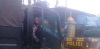 Manokwari police convoy