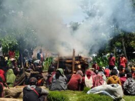 The cremation of Mispo Gwijangge