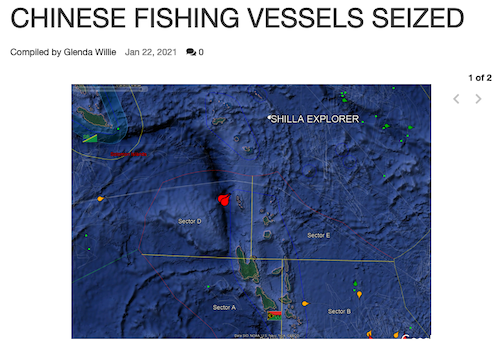 Chinese boats seized VDP