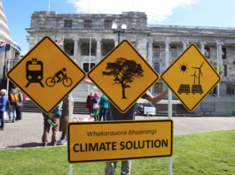NZ climate action protest