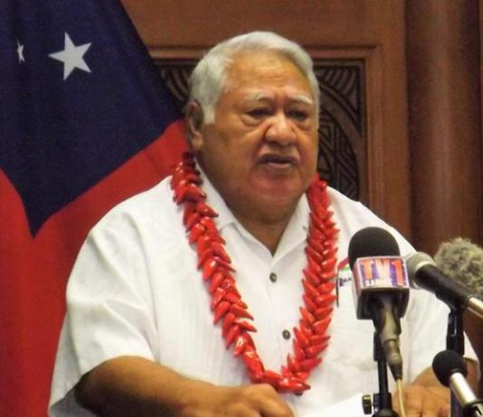 Samoa PM Tuila'epa Sa'ilele Malielegaoi