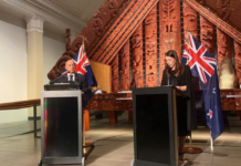 PMs Mark Brown & Jacinda Ardern