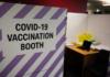 Covid vaccine booth