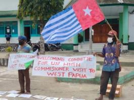 Morning Star flag protest 220321