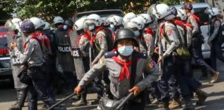 Myanmar police brutality