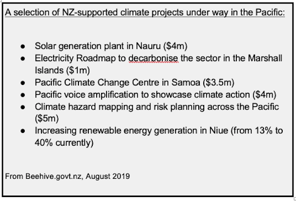 NZ climate aid projects