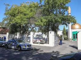 Police outside Al-Noor Mosque