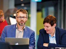 The Conversation A&NZ editor Misha Ketchell and CEO Lisa Watt