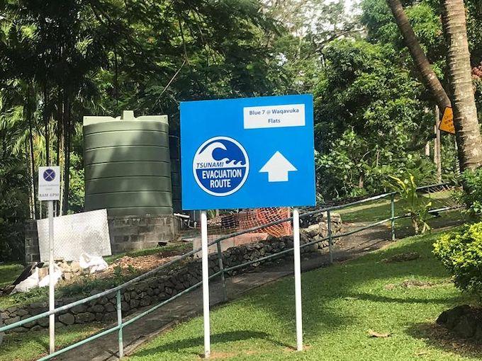 Tsunami route
