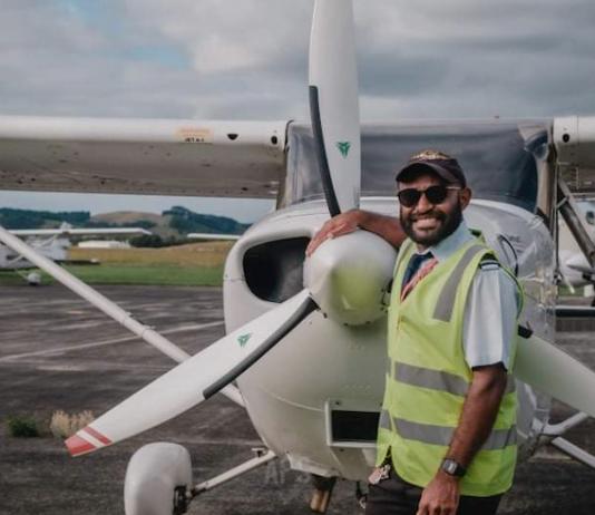 Papuan pilot Nickson Stevi Yikwa