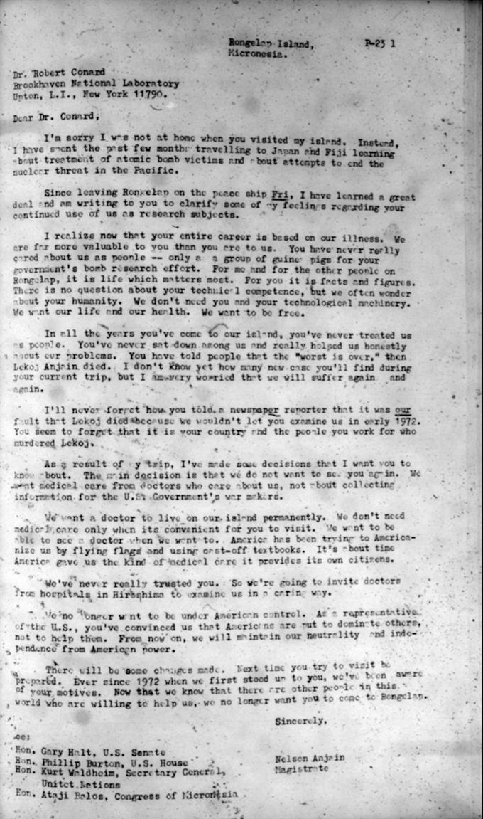 Nelson Anjain letter