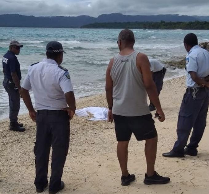 Body on Pango beach