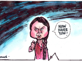 Greta Thunberg cartoon