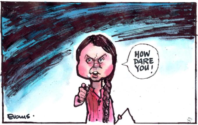 Greta Thunberg cartoon