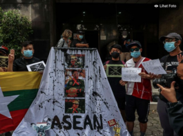 Milk Tea Alliance activists in Jakarta