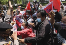 Protesters at ASEAN