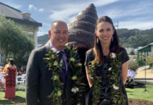 Mark Brown and Jacinda Ardern