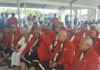FAST members in a tent