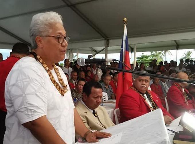 Samoan Prime Minister-elect Fiame Naomi Mata'afa