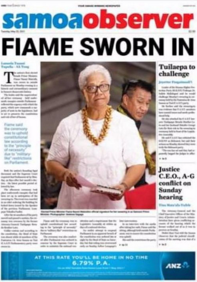 Fiame sworn in - Samoa Observer