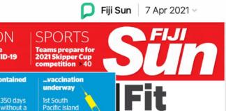 Weak link headline in Fiji in the Sun
