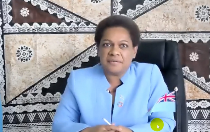 Fiji's Minister for Women Mereseini Vuniwaqa