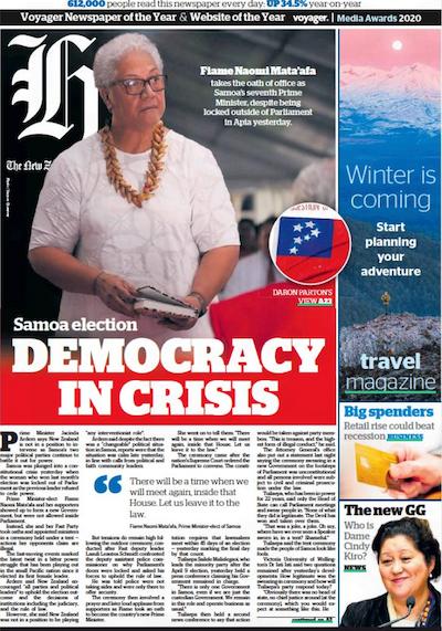 """Democracy in crisis"" - New Zealand Herald"