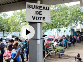 Polling station in New Caledonia
