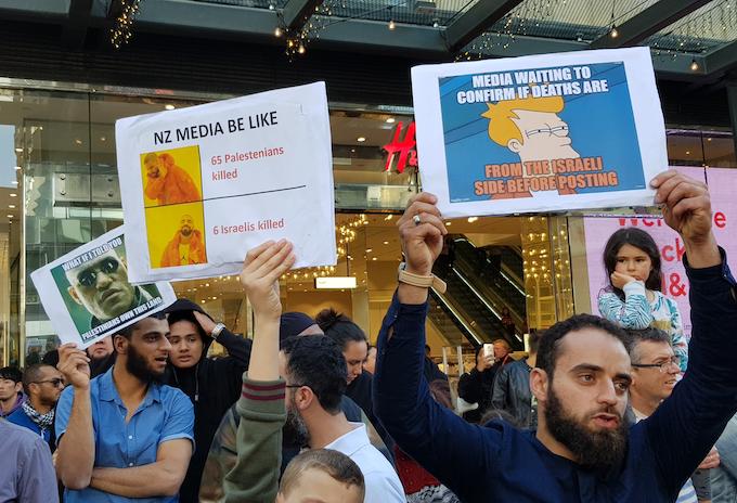 "Palestinian protesters target NZ media ""bias"""