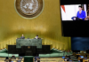 """President Joko """"Jokowi"""" Widodo addressing UN"""