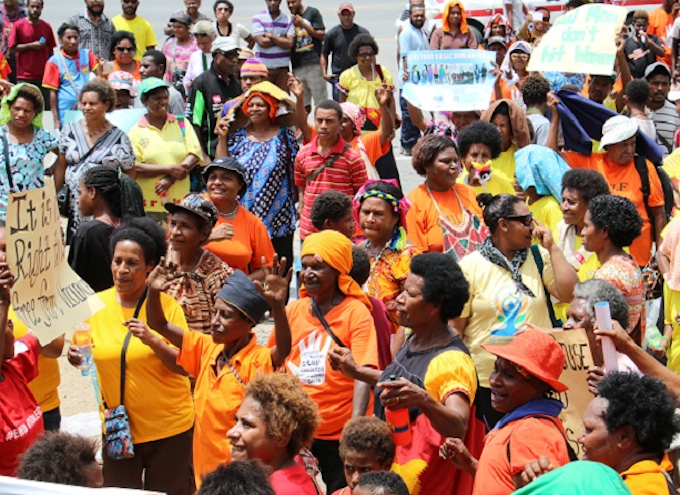PNG protest over violence against women