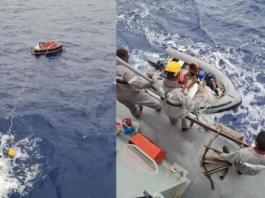 Rescue of Tiro II crewman