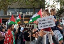Palestinian child at NZ rally