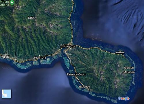 Tautira on Tahiti-Iti