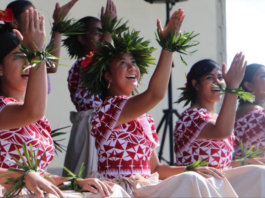Avondale College on the Niue stage
