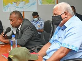 Health Minister Dr Ifereimi Waqainabete & Prime Minister VoreqeBainimarama.