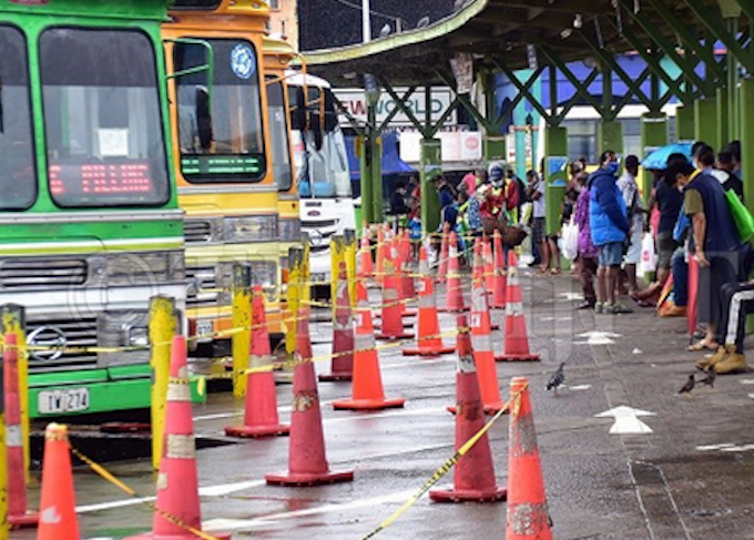 Passengers at Suva Bus Terminal