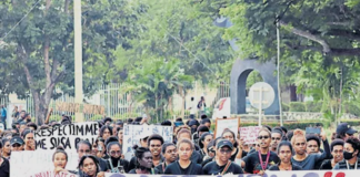 UPNG harassment protest 190621