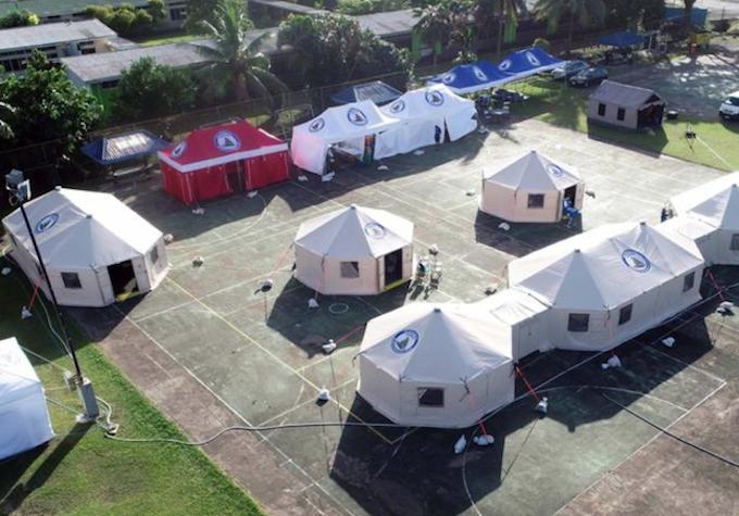 FEMAT field hospital in Suva 150621