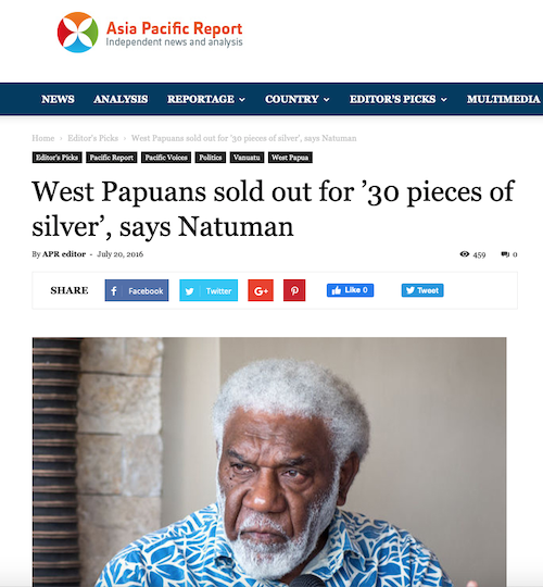 West Papuans 'sold out' 200716