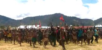 Dogiyai regency, Papua, protest