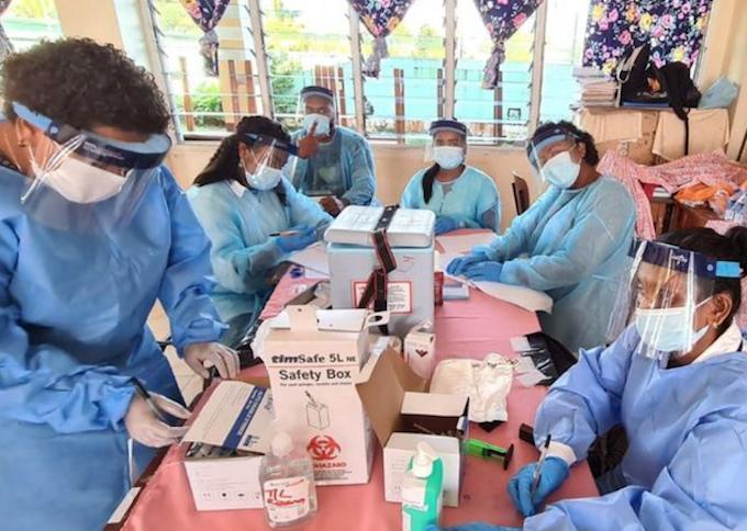 Fiji health workers 040721