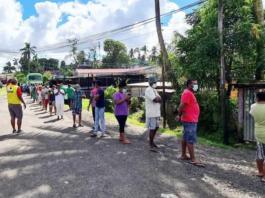 Fiji covid testing queue