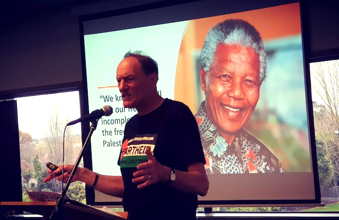 John Minto and Nelson Mandela